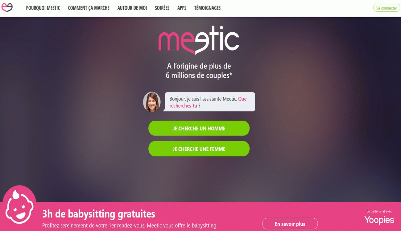 Le meilleur: application meetic gratuit